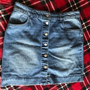 High-waited Denim skirt